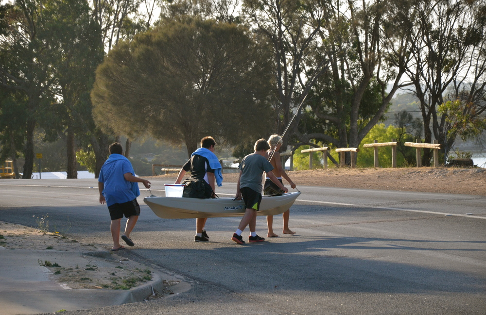 Had to share this pic...The local boys going fishing :)