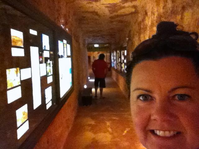Underground in the hotel.
