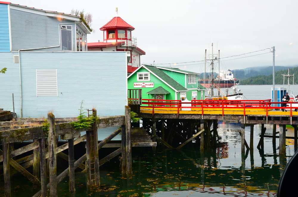 Colorful and quaint Cow Bay  .