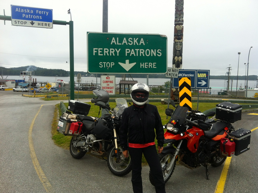 Catching the ferry.