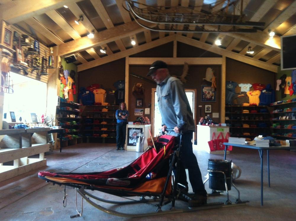 Jeff King sharing sledding stories