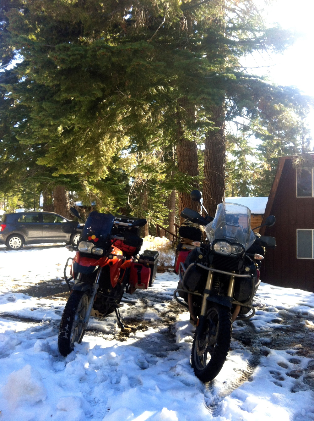 Time to get the bikes out of the snow!
