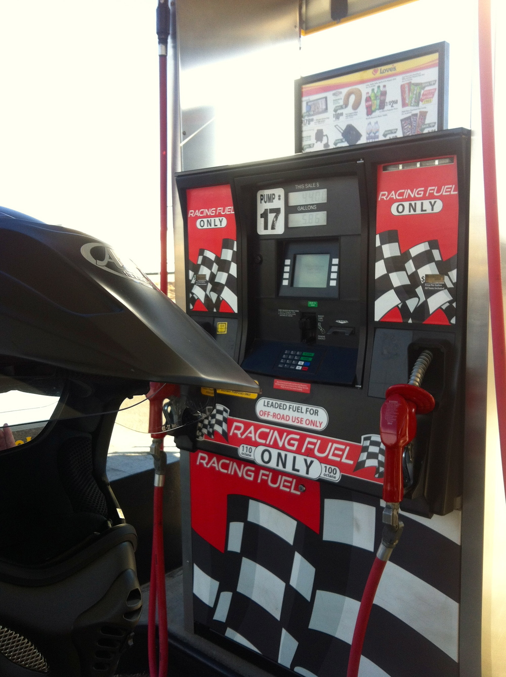 Filling up??..NO, at $7.50 per gallon I think not, even though it is 100  octane