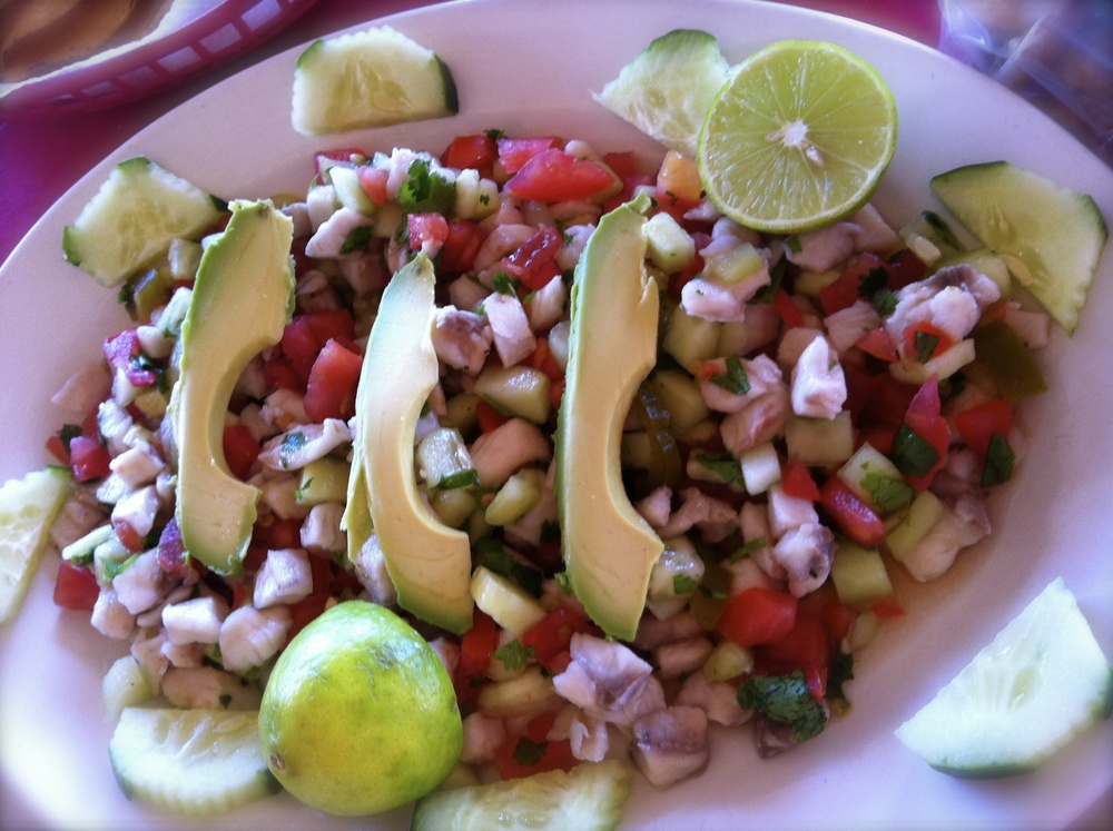 Ceviche…Amazingly enough sporting very festive colors!