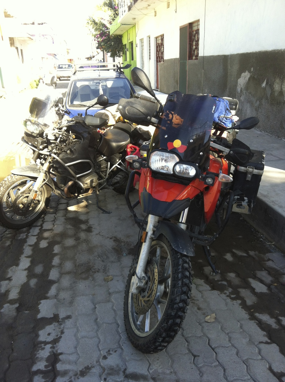 My bike missing a red gas container