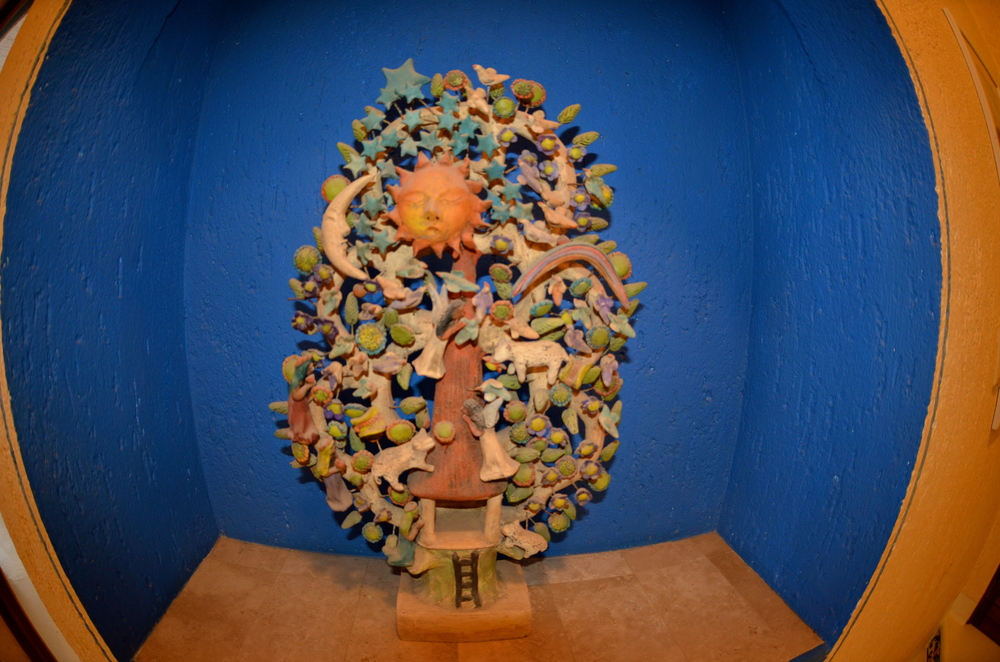 Even cool sculptured art work to enjoy as you walk up the 3 flights of stairs!