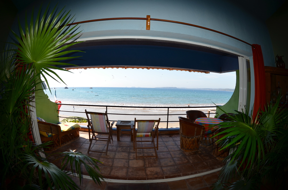 View to the ocean from Musica del Mar