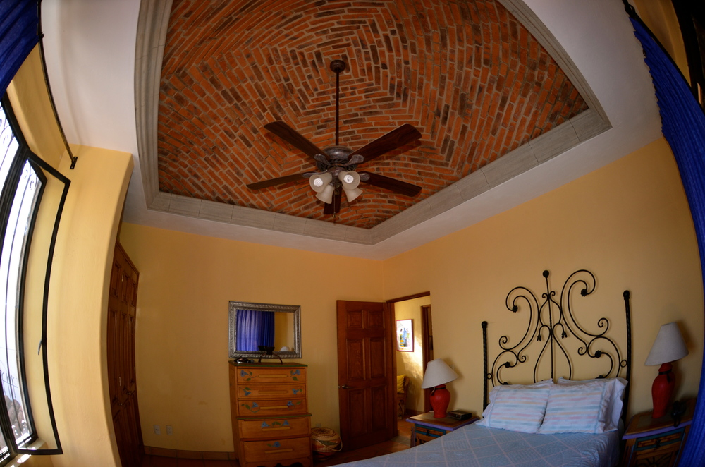 Master bedroom with a domed brick ceiling called Boveda.