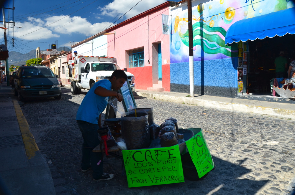 The wheelbarrow coffee guy…where I purchased my coffee…he even ground it for me!