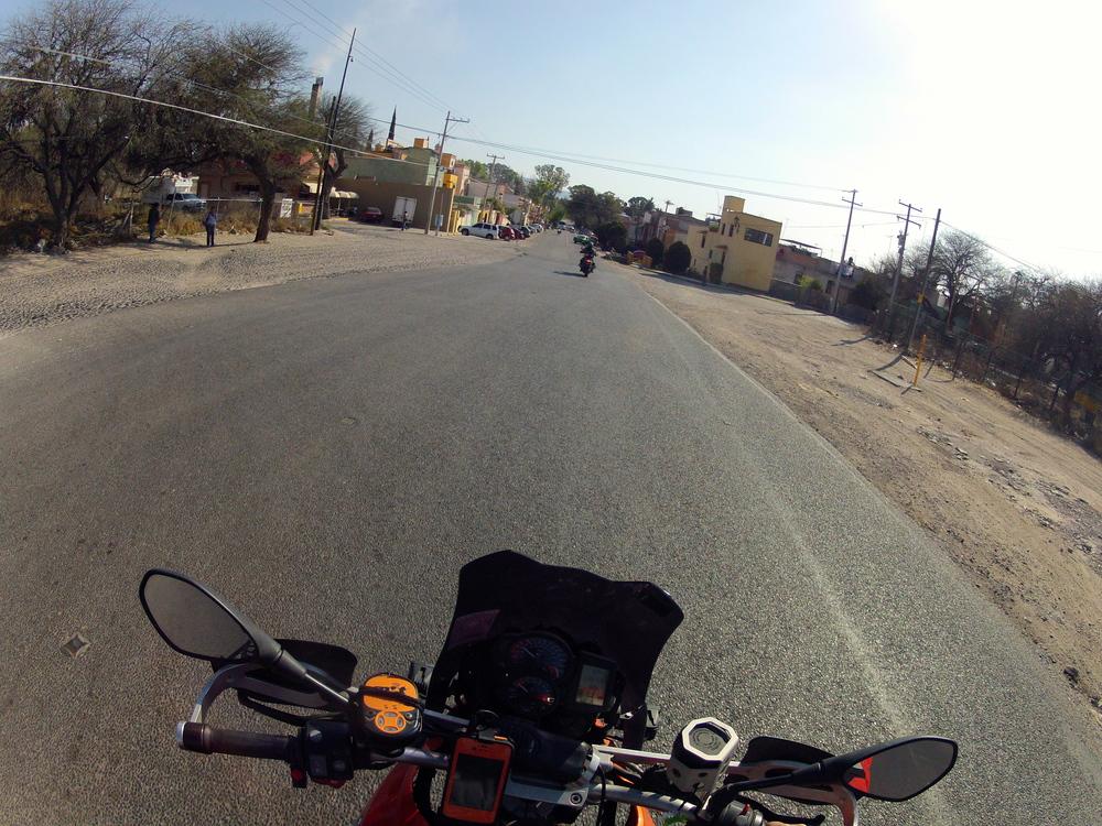 Riding out of San Miguel de Allende