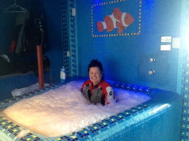 Always take advantage of a tub!