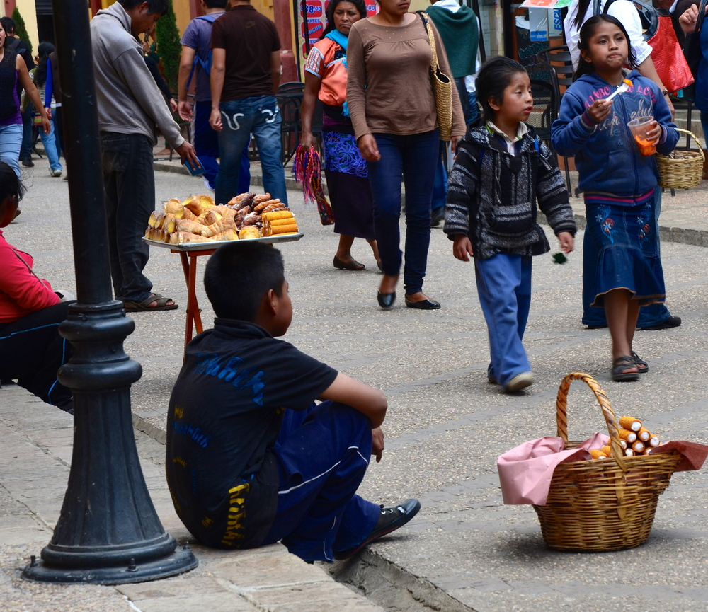 There are many many young children here out of school peddling their families wares, and they are fierce saleschico's.