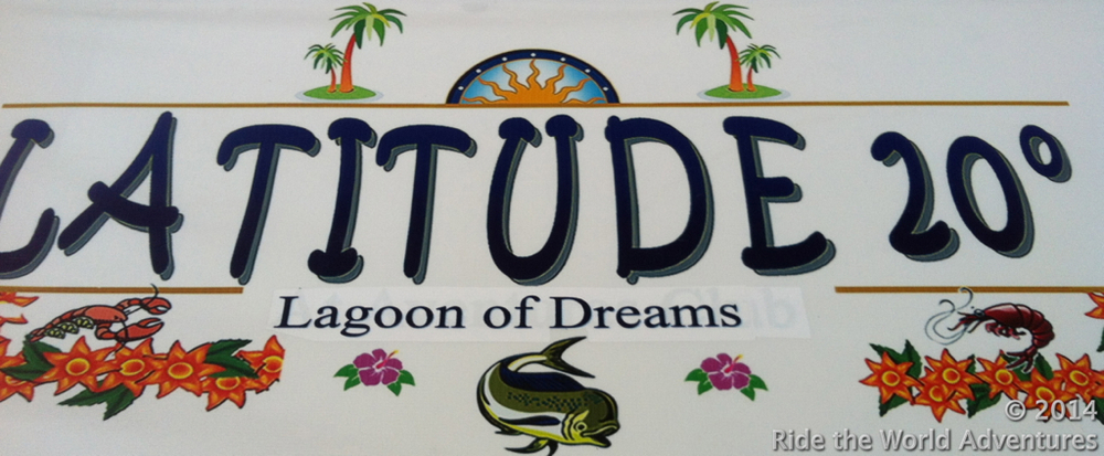 Appropriately meeting at Latitude 20….the Lagoon of Dreams!  Thanks for a great time new friends Dan and Pam.