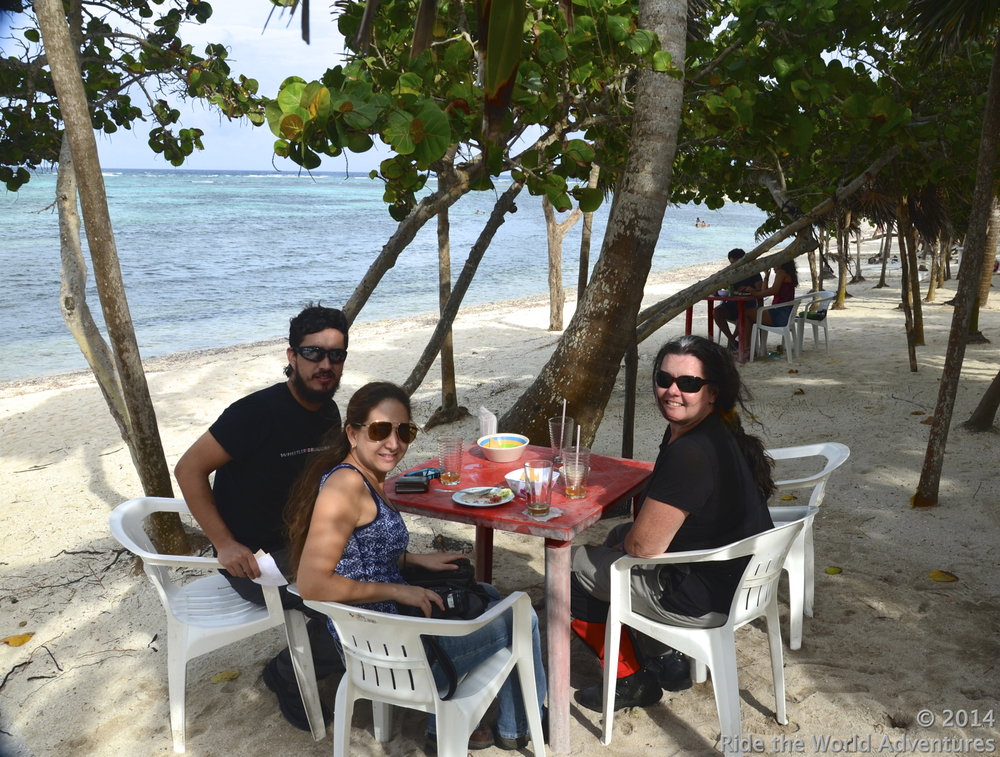 Awesome lunch overlooking Soliman Bay