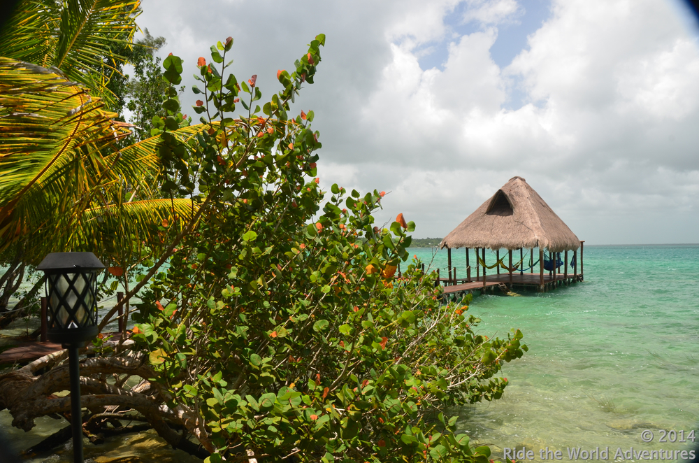 Looking out over Laguna Bacalar.