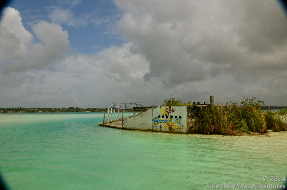 The only foreign thing in Lake Bacalar is this restaurant that never came to be!