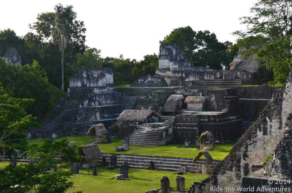 The Grand Plaza, the core of the city.  Surrounded by the north acropolis,  central acropolis, a ball game court and temples 1 & 2,  This heart of Tikal  was continuously  abuzz with religious events, celebrations,  sports, educational events, stela raising and community life.
