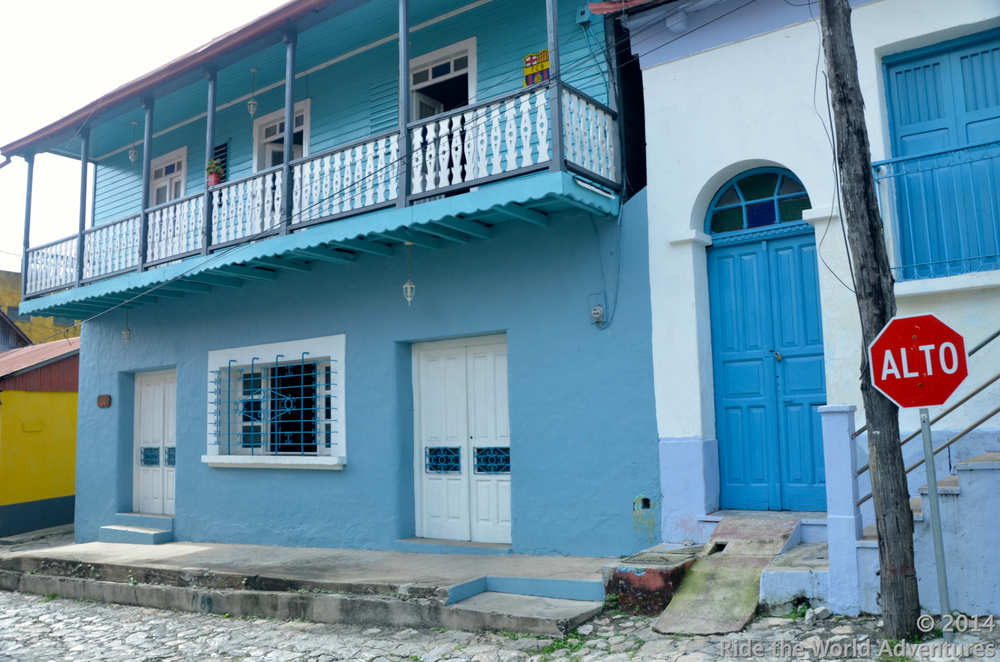 Colorful buildings of Flores