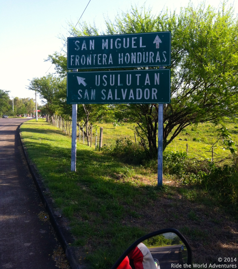 Heading towards the Honduras border
