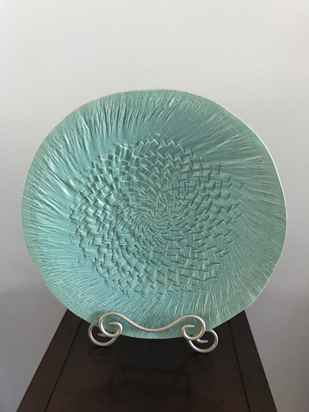 Aqua Ceramic Decorative Platter