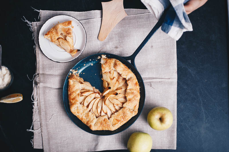 Baker Polina Chesnokova serves up her pan-baked apple galette
