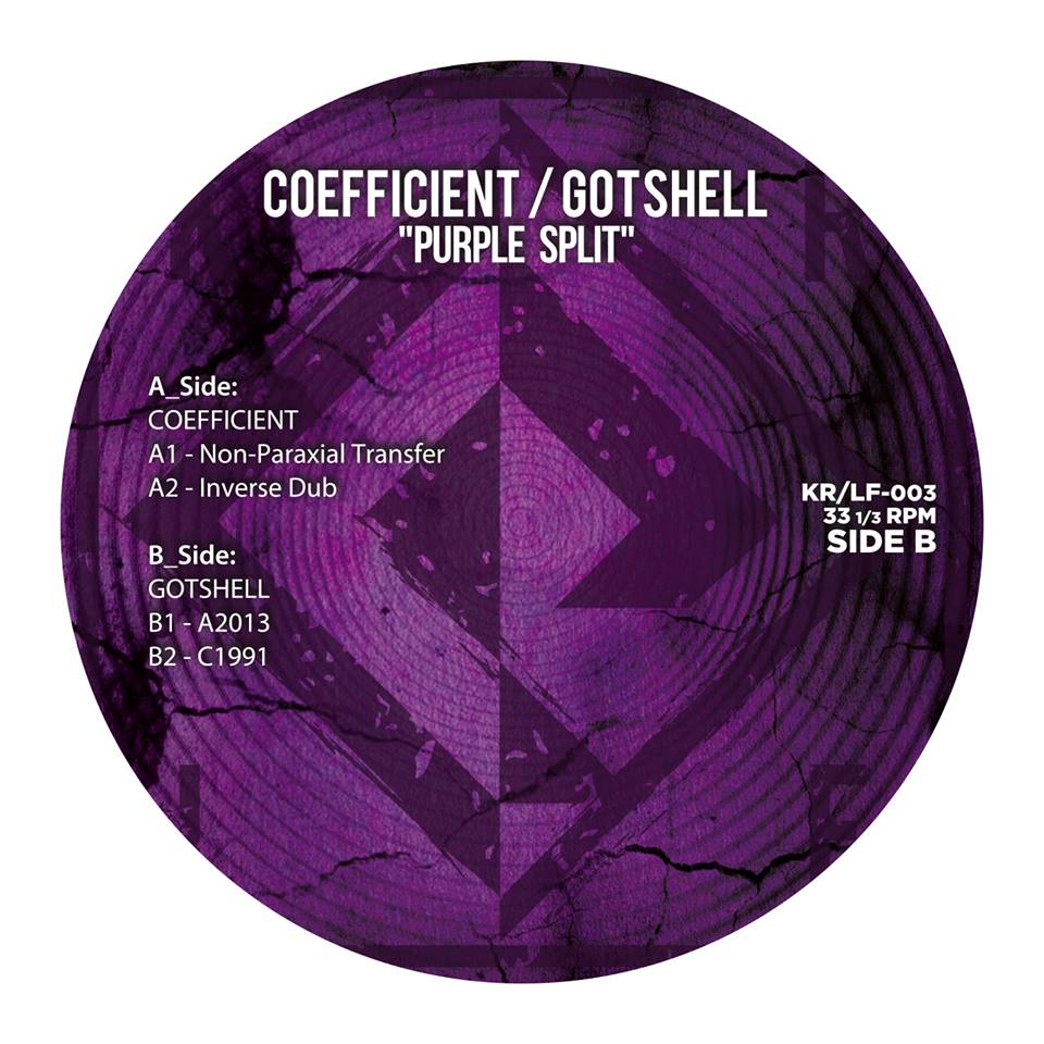 "[vinyl 12""] Coefficient/Gotshell - Purple Split"