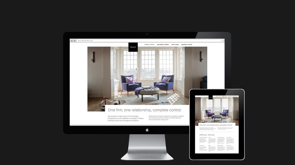 Website inside page design for Realm