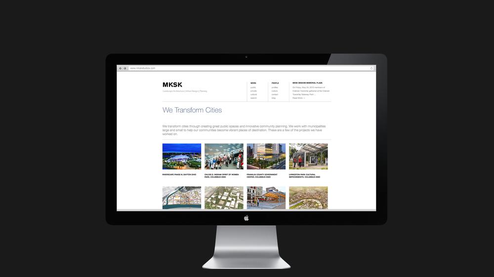 Website inside page design for MKSK