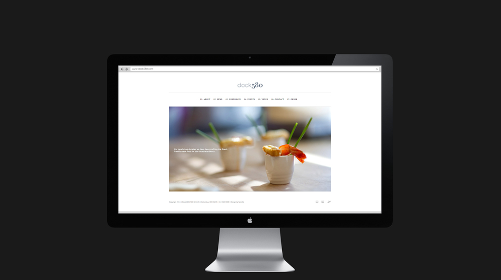 Website homepage design for dock580