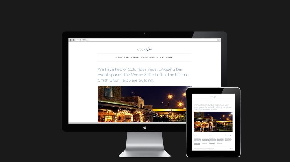 Website inside page design for dock580