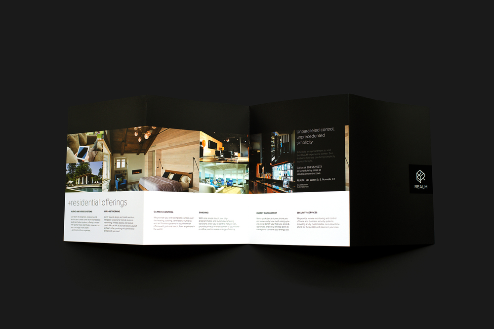 Brochure design for Realm