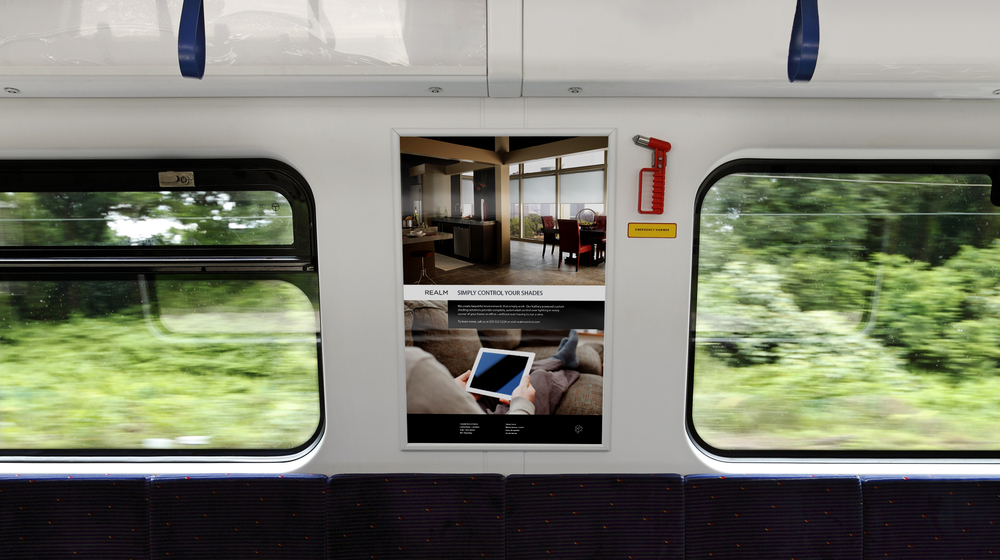 Transit ad design for Realm