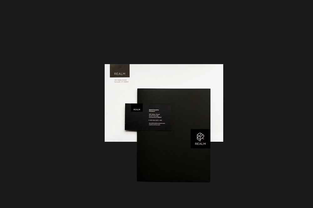 Stationery design for Realm