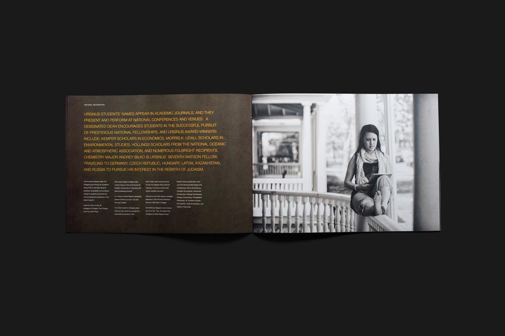 Book inside spread design for Ursinus