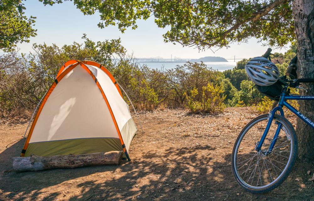 Angel Island Campsite Bike Camping Bay Bridge