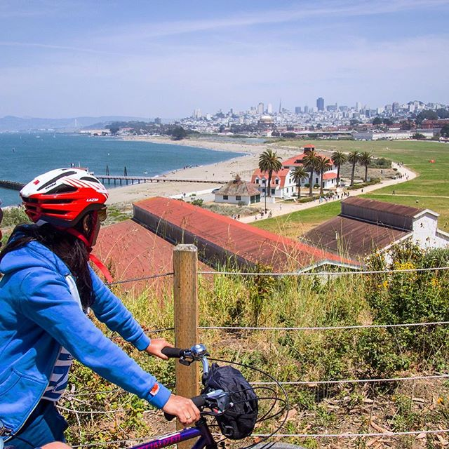 #Fridayvision on our epic all city tour.  This view looking out over Crissy Field and most #SF right before we ride to the #goldengatebridge