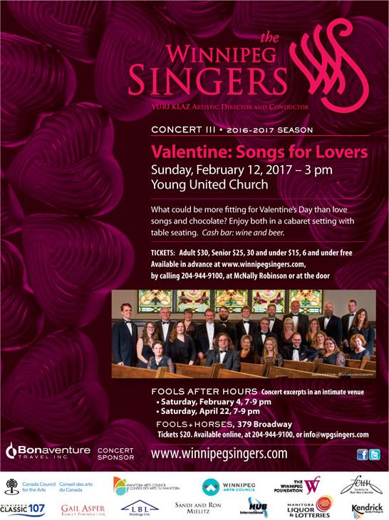 Winnipeg Singers Concert 3 Poster
