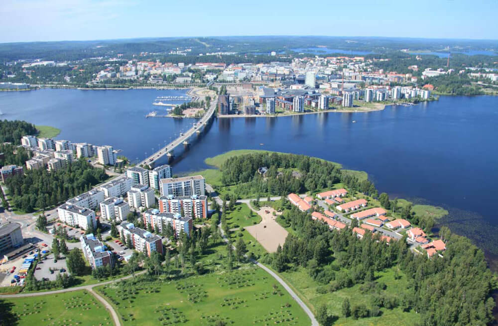 Jyväskylä, Finland is the largest city in the region of Central Finland and on the Finnish Lakeland.
