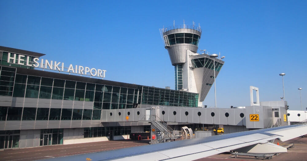 Helsinki Airport or Helsinki-Vantaa Airport in Vantaa, Finland, is the main international airport of the Helsinki metropolitan region and the whole of Finland.