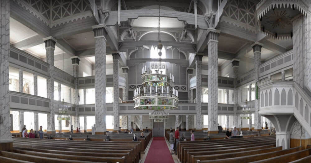 The Kerimäki Church in Savonlinna, Finland, is the biggest wooden church in the world.