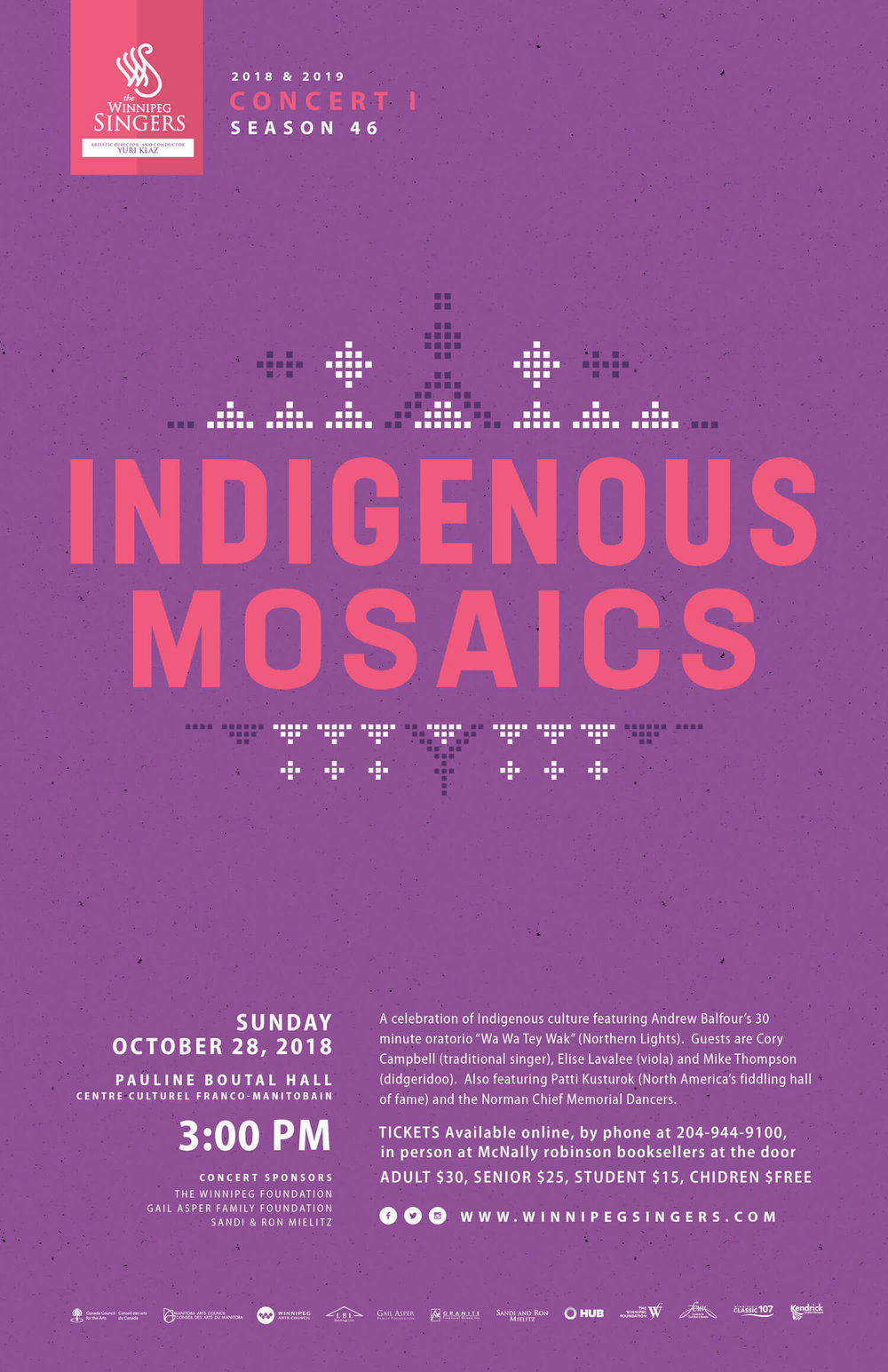 Winnipeg Singers - Indigenous Mosaics Concert