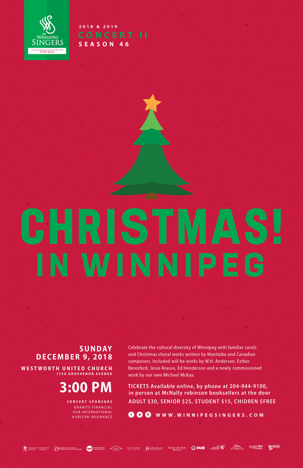 Winnipeg Singers - Christmas! in Winnipeg Concert