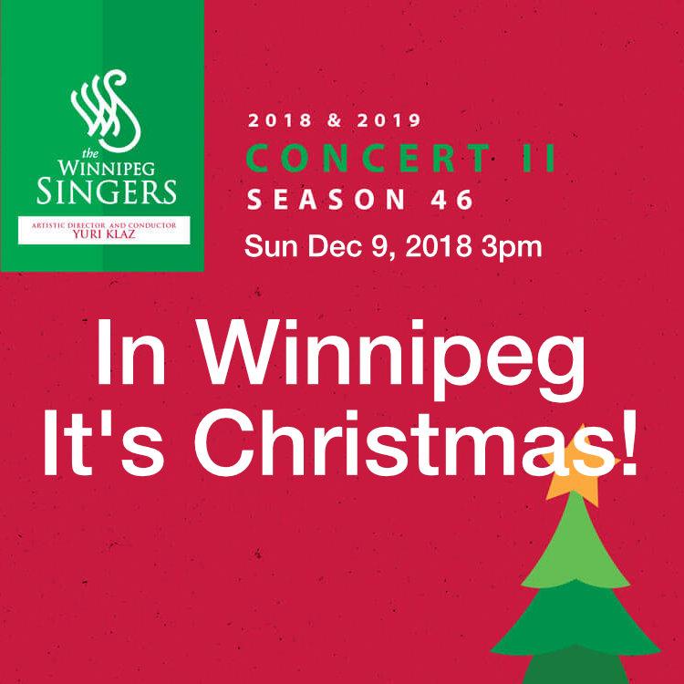 In Winnipeg It's Christmas Concert by Winnipeg Singers