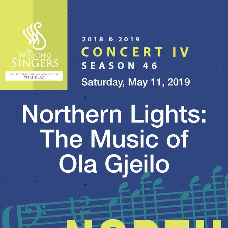 Northern Lights: The Music of Ola Gjeilo Concert by Winnipeg Singers