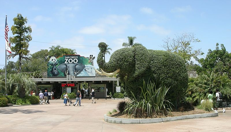 Sand Diego Zoo Entrance