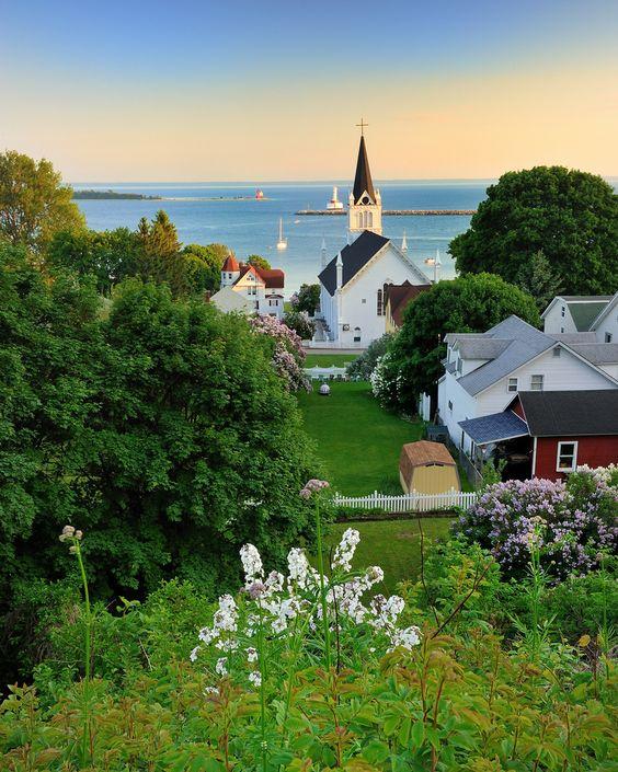 """Harbor View"", Mackinac Island, MI"
