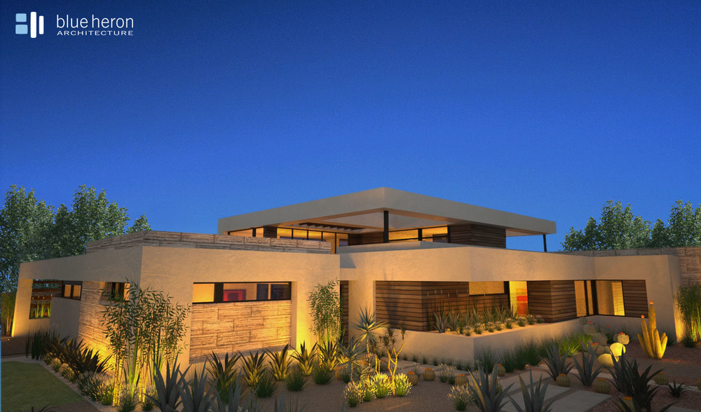 Minimalist Home Design -  Blue Heron Architecture   The Ridges, Las Vegas, Nevada