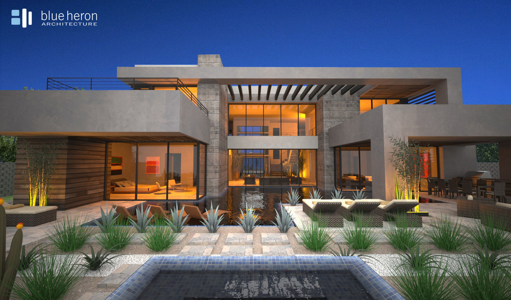 Modern Home Design -  Blue Heron Architecture   Meadowhawk Lane, Henderson, Nevada