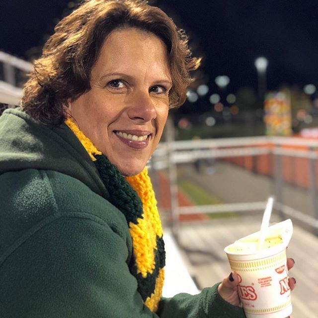 @ilovepbnj enjoying some cup of noodles waiting for awards at State Championships.
