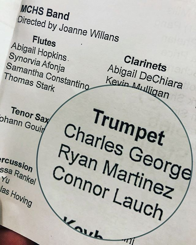 Wow. It finally happened. Ryan In a HS band concert. 🎵 🎺